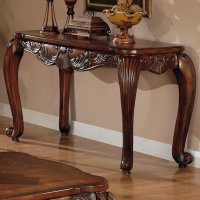 Brown Wood Console Table - Steal-A-Sofa Furniture Outlet ...