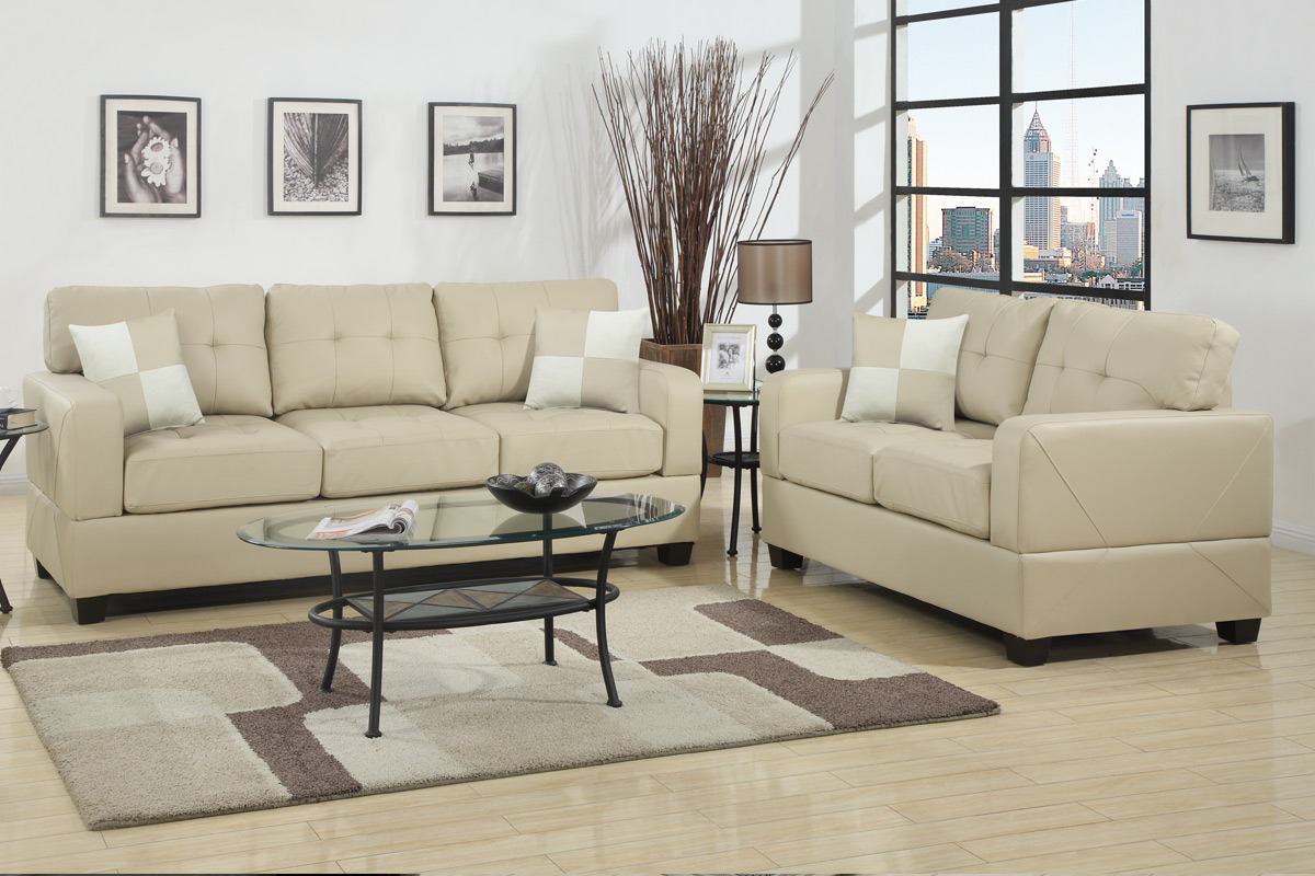 Sofa Beige Chase Beige Leather Sofa And Loveseat Set