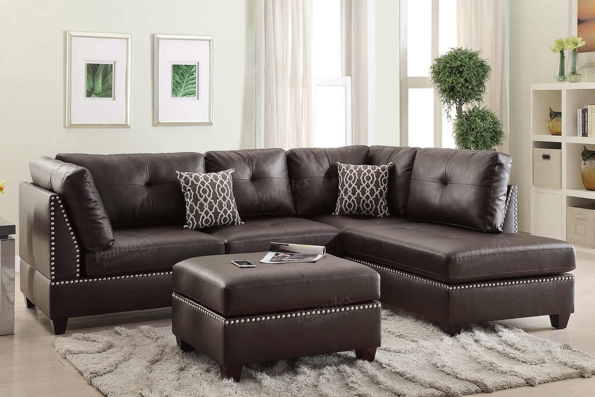 Corner Couches For Sale Brown Leather Sectional Sofa And Ottoman Steal A Sofa