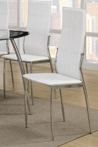 White Metal Dining Chair - Steal-A-Sofa Furniture Outlet ...