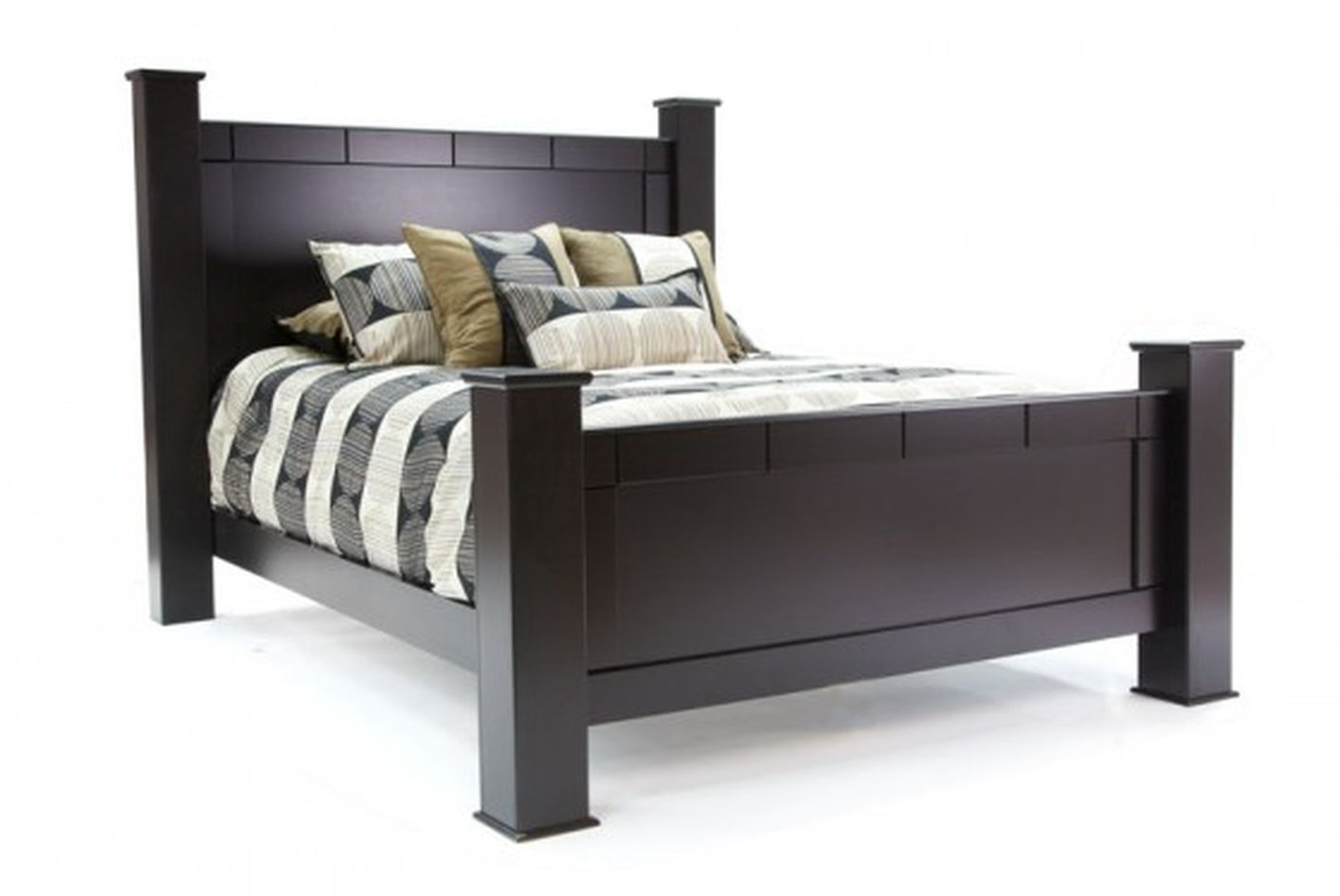 Queen Size Bed With Mattress Elena Black Wood Queen Size Bed Steal A Sofa Furniture