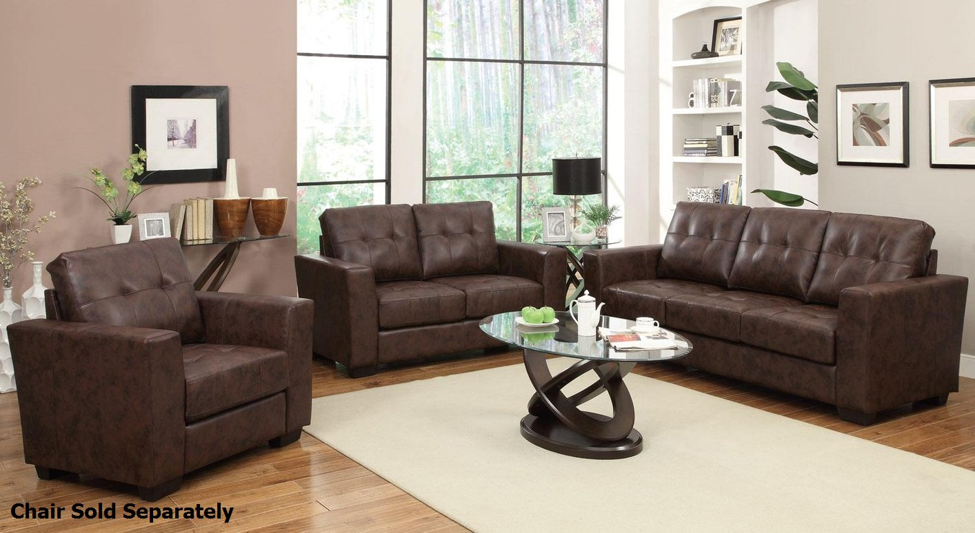 Leather Couch And Sofa Set Enright Brown Leather Sofa And Loveseat Set Steal A Sofa