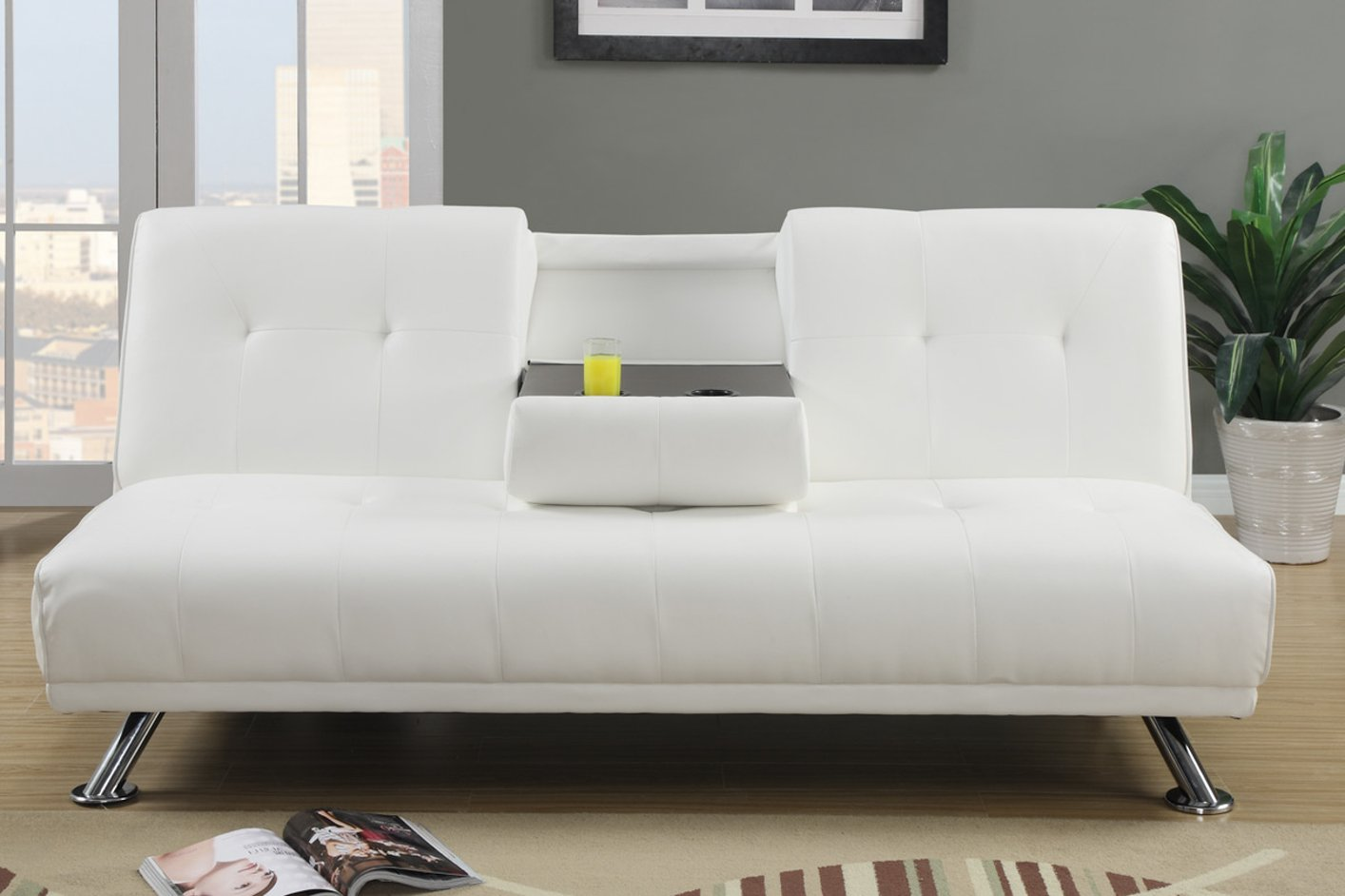 Sofa Bed Los Angeles White Leather Sofa Bed