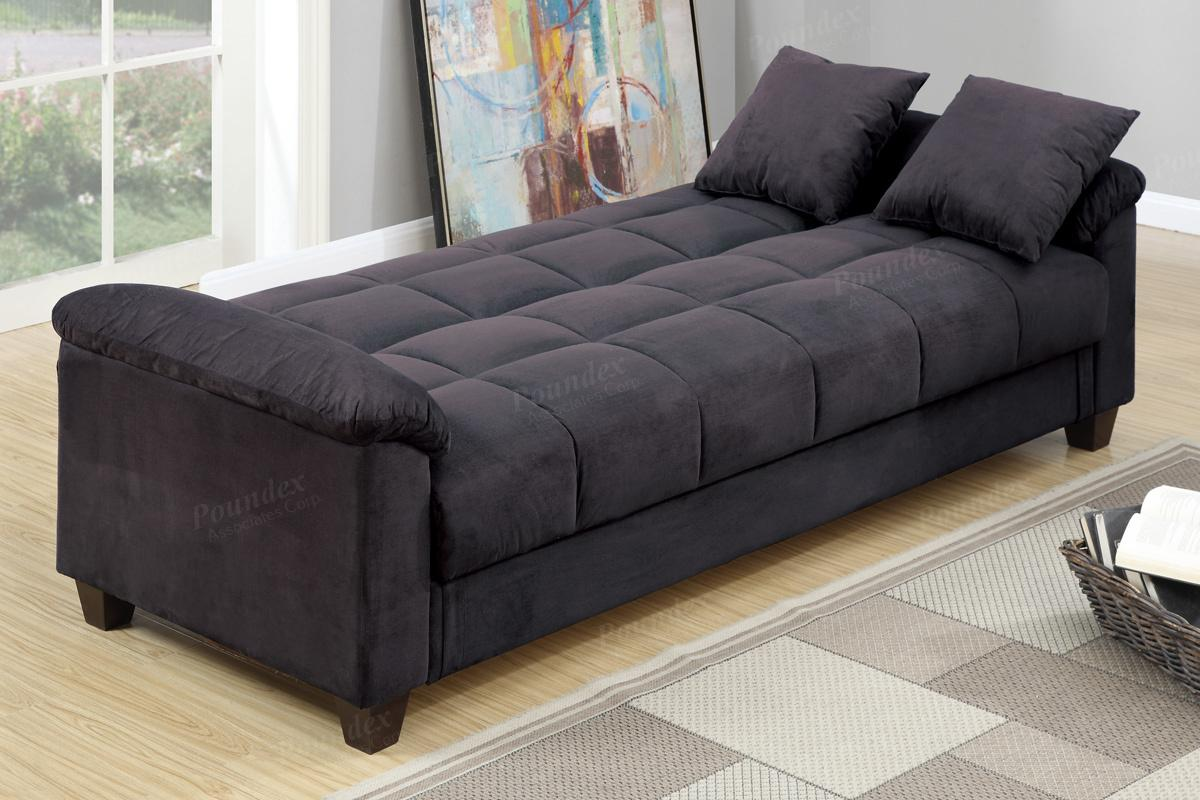 Sofa Beds Perth Gertrude Black Fabric Sofa Bed