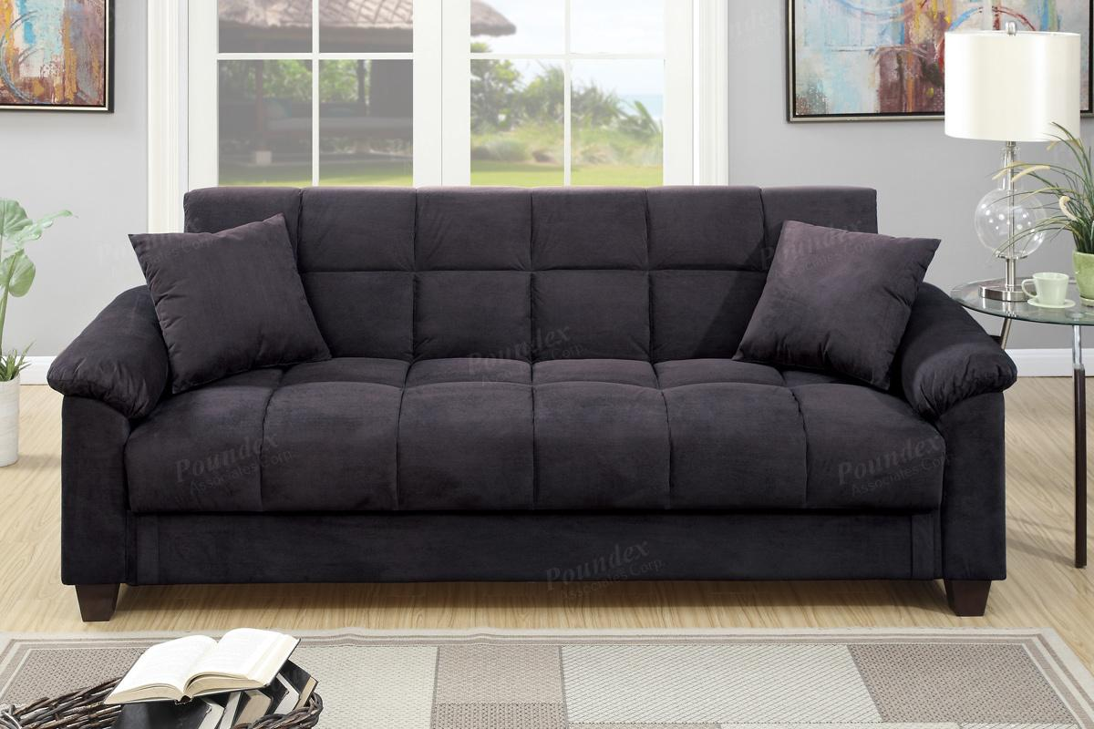Sofa Bed Los Angeles Gertrude Black Fabric Sofa Bed