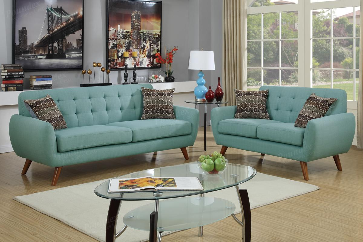 Sofa Set Color Blue Green Fabric Sofa And Loveseat Set Steal A Sofa
