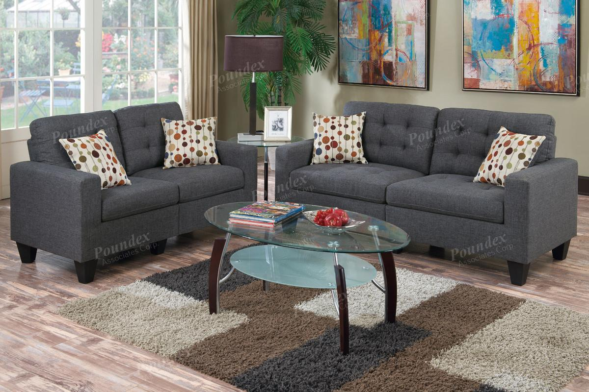 Sofa Set Grau Grey Fabric Sofa And Loveseat Set Steal A Sofa Furniture