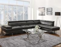 Grey Leather Sectional Sofa - Steal-A-Sofa Furniture ...