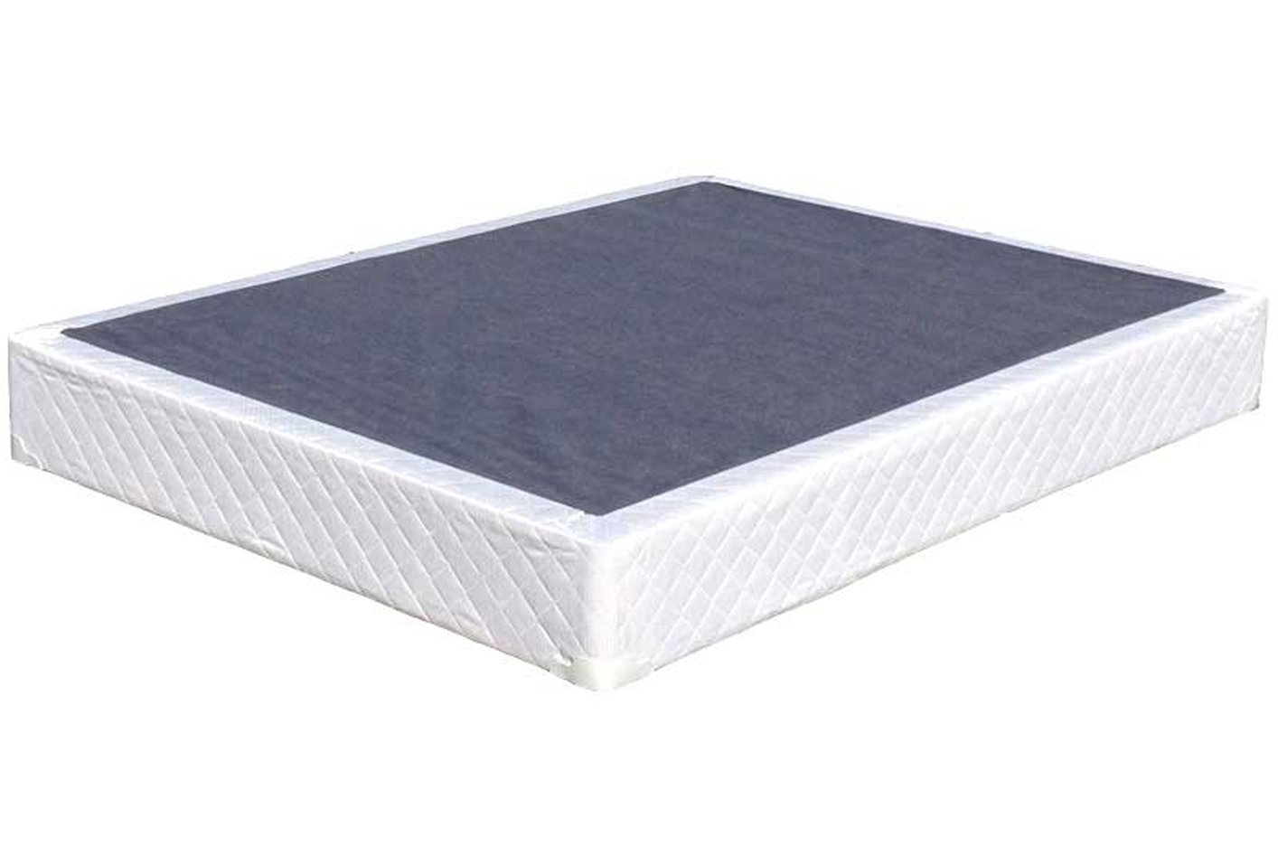 Box Spring White Fabric Box Spring
