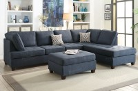 Blue Fabric Sectional Sofa - Steal-A-Sofa Furniture Outlet ...