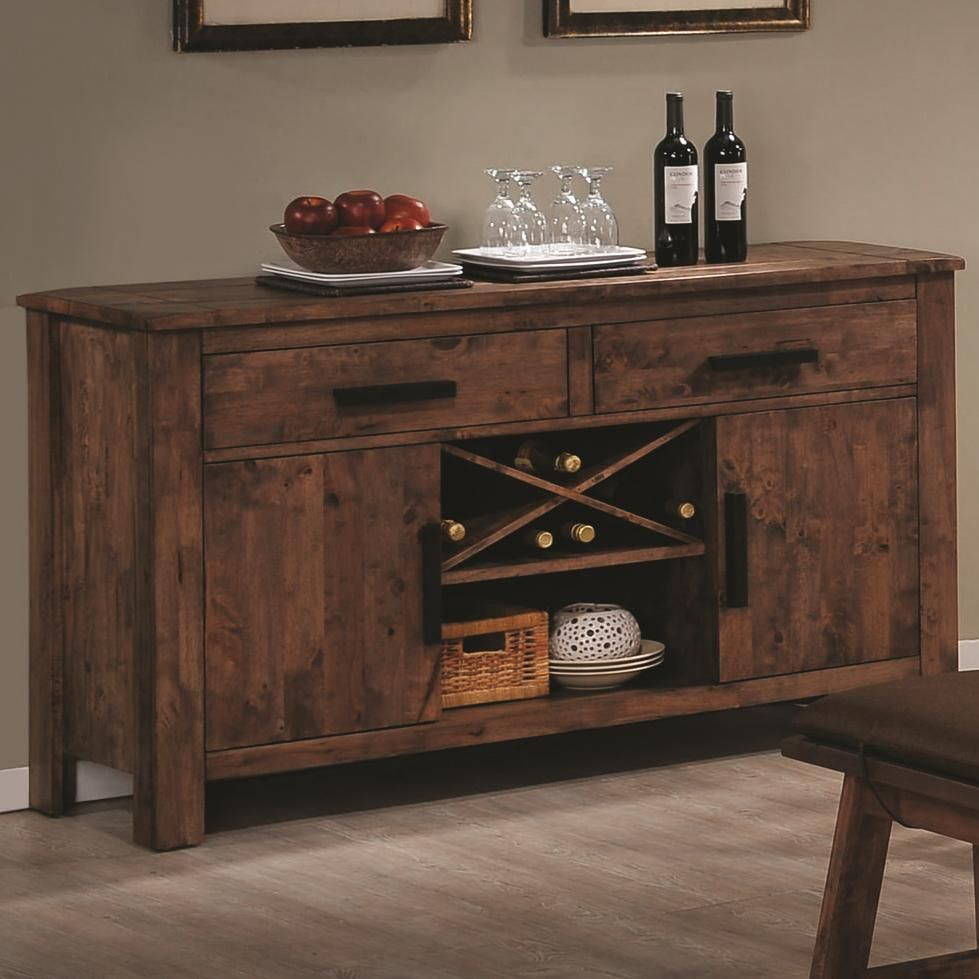 Dining Room Furniture Buffet Maddox Rustic Brown Wood Buffet Table