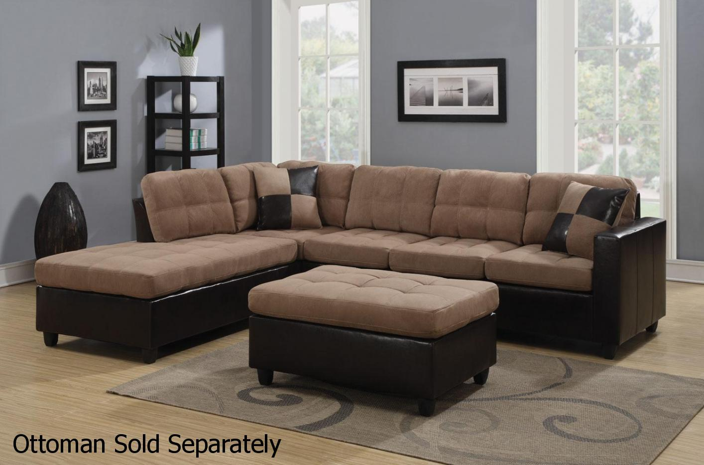 Sofa Beige Mallory Beige Leather Sectional Sofa