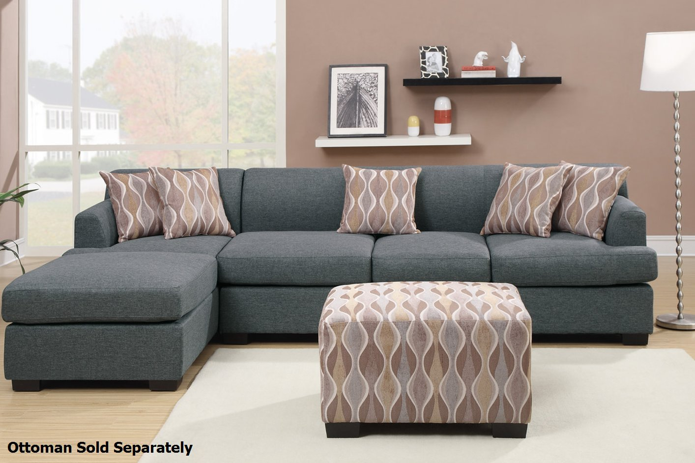 Sectional Sofas Montreal On Sale Grey Fabric Sectional Sofa - Steal-a-sofa Furniture Outlet