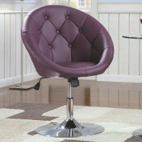 Purple Metal Swivel Chair - Steal-A-Sofa Furniture Outlet ...