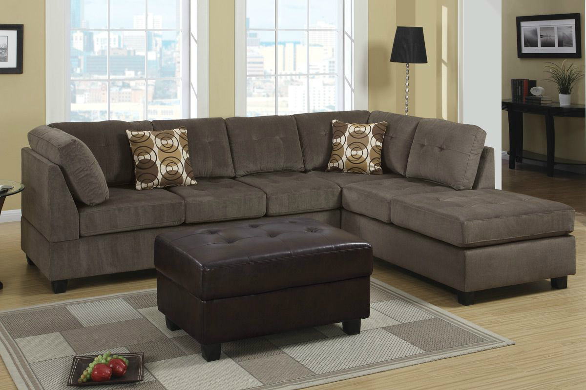 Microfiber Sectional Sofa Radford Ash Reversible Microfiber Sectional Sofa