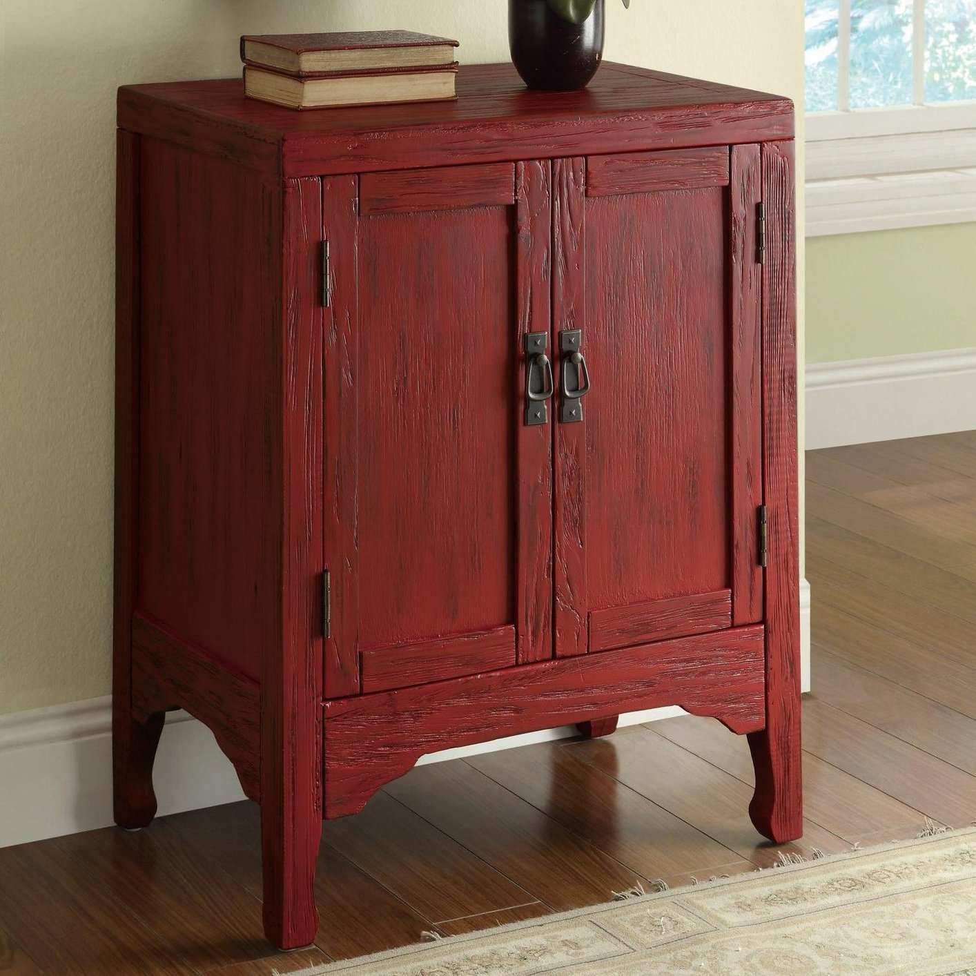 Cabinet Oak Furniture Red Wood Accent Cabinet