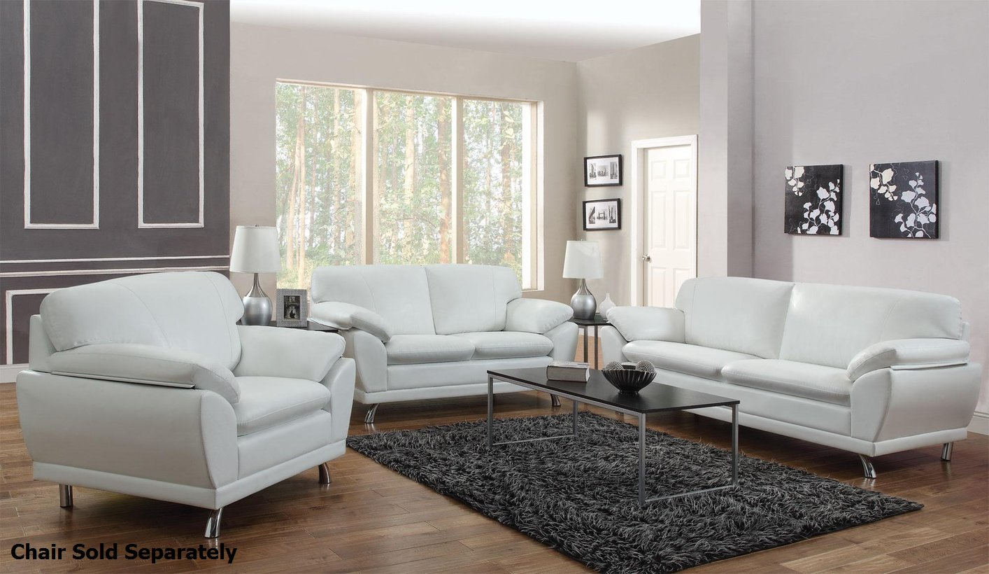 Barlow White Leather Sofa And Loveseat Set White Leather Sofa And Loveseat Baci Living Room