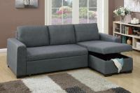 Grey Fabric Sectional Sofa Bed - Steal-A-Sofa Furniture ...
