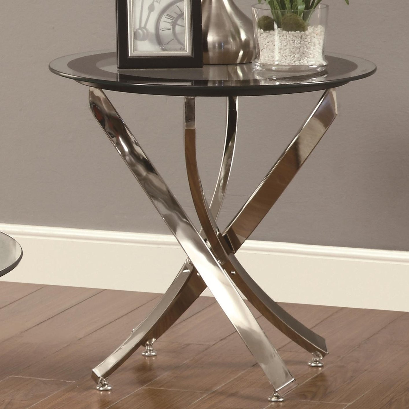 Metal Glass End Tables Silver Metal End Table