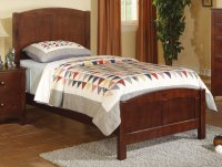 Brown Wood Twin Size Bed - Steal-A-Sofa Furniture Outlet ...