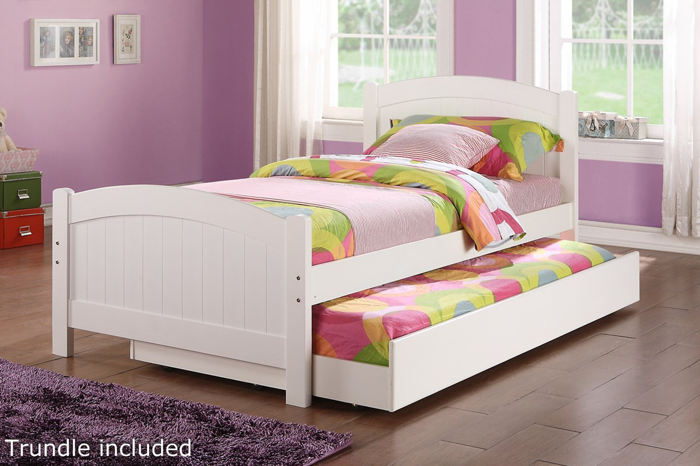 White Wood Twin Size Bed Steal A Sofa Furniture Outlet