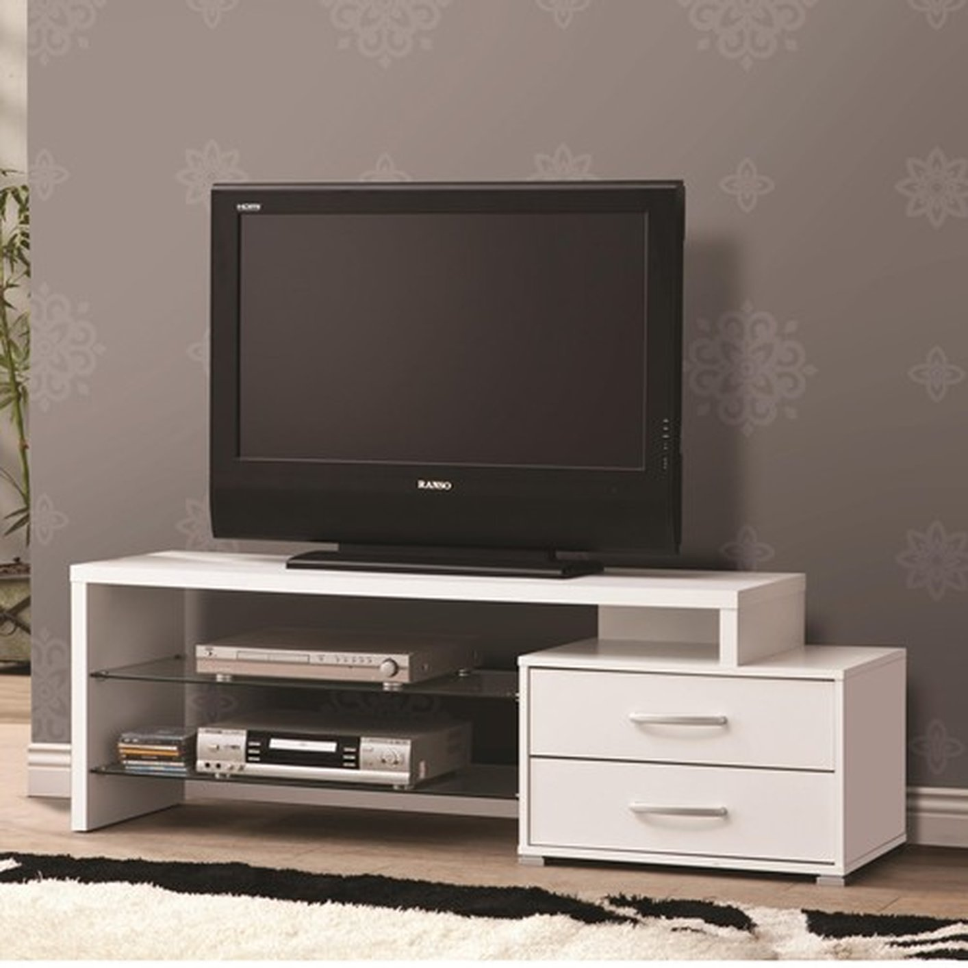 White Tv Stand White Metal Tv Stand Steal A Sofa Furniture Outlet Los
