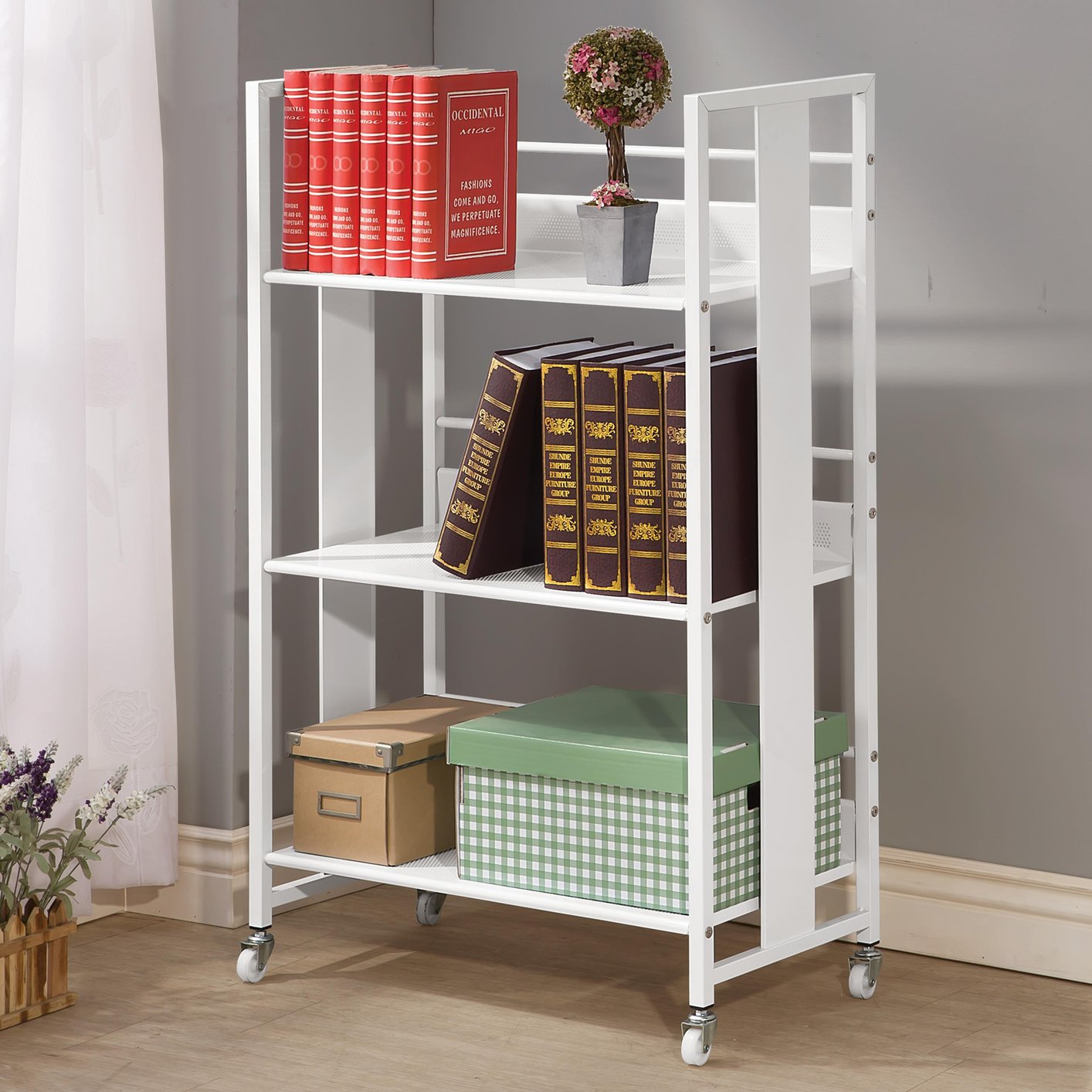 Aluminum Bookcase White Metal Bookcase Steal A Sofa Furniture Outlet Los