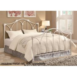 Small Crop Of White Metal Bed Frame
