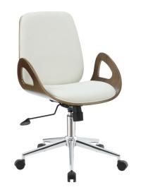 White Wood Office Chair - Steal-A-Sofa Furniture Outlet ...
