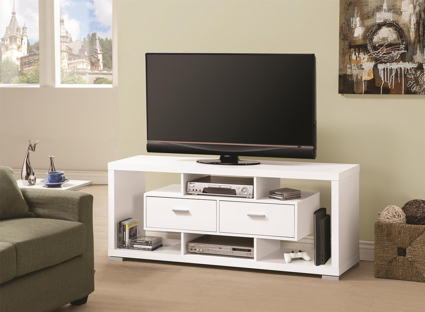 White Tv Stand White Wood Tv Stand Steal A Sofa Furniture Outlet Los