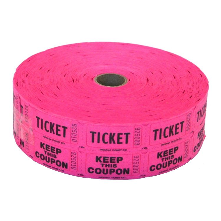 Fuchsia Double Raffle Ticket Roll - raffle ticket