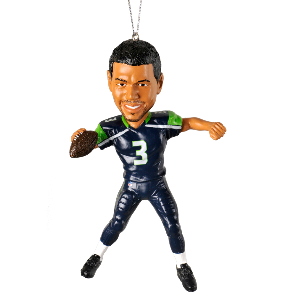 Russell wilson seattle seahawks forever collectibles nfl player ornament