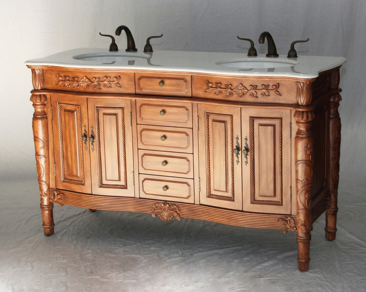 Traditional Double Sink Vanity 60 Inch Double Sink Bathroom Vanity Antique Traditional