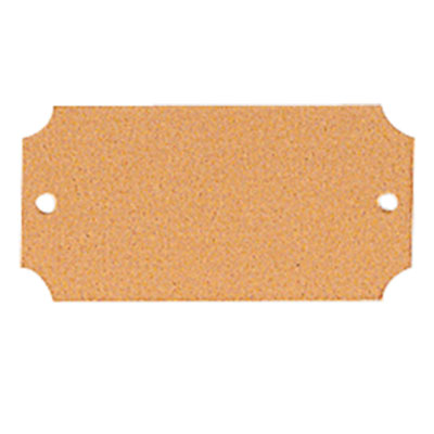 2-1/2 x 1-1/4 Inches Gold Plate - 1/2^x
