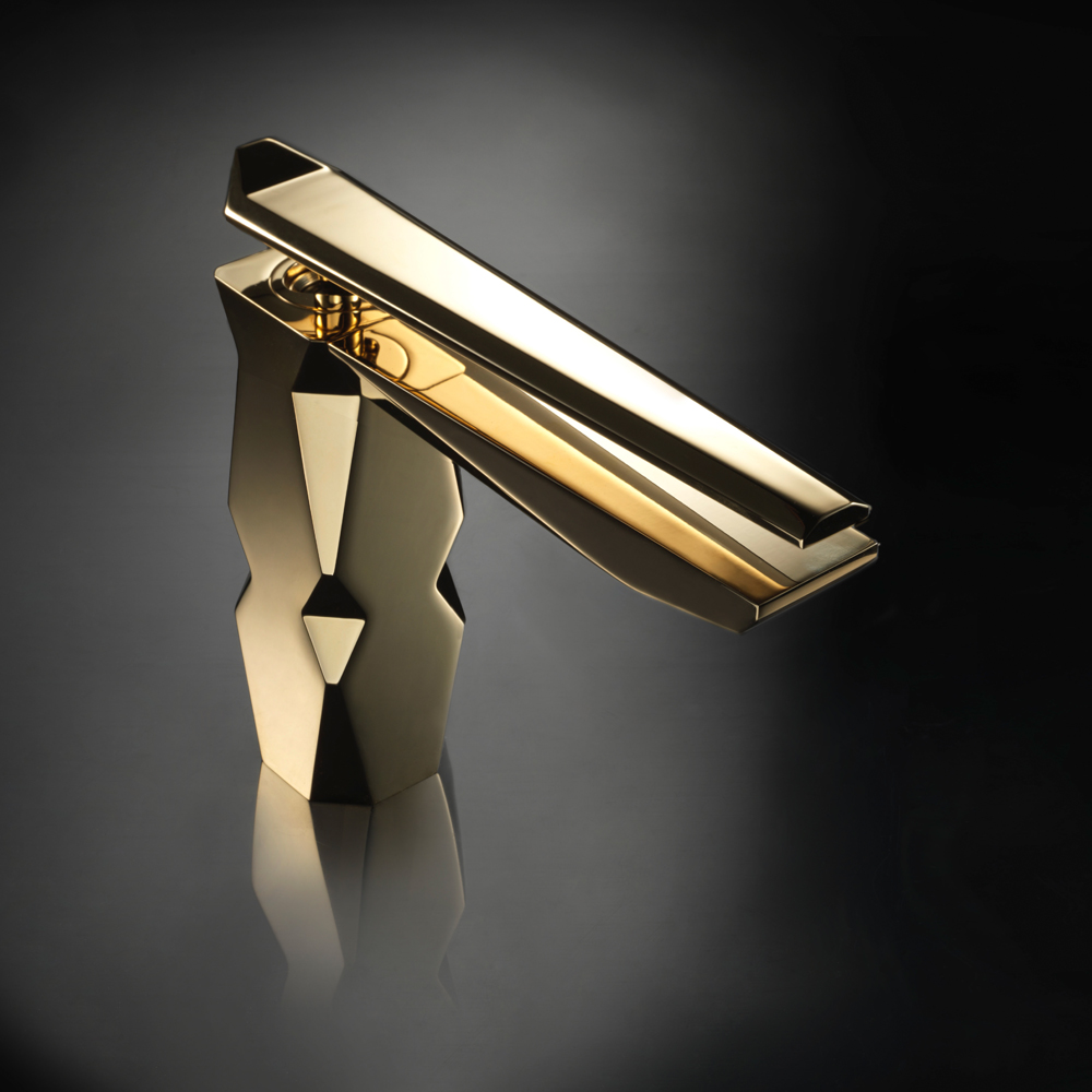 Polished gold bathroom faucets -  Polished Gold Luxury Bathroom Faucet Download