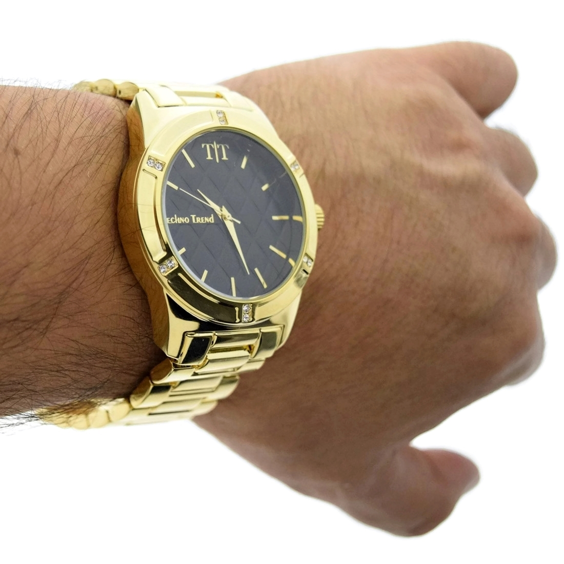 Trend Gold Modern Men 39s Black Gold Watch Watches