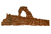 "42"" Delicate Arch Metal Wall Art - Nature Wall Decor"