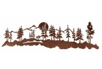"84"" Midnight Moon and Forest Metal Wall Art - Nature Wall ..."