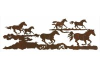 "84"" Running Wild Horses Metal Wall Art - Western Wall Decor"