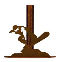 Snowboarder Metal Paper Towel Holder
