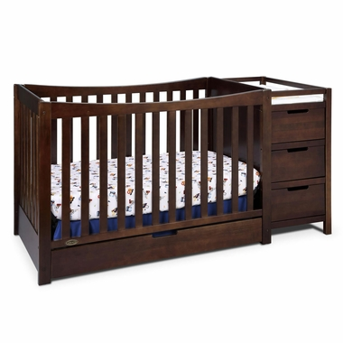 Graco Remi 4 In 1 Convertible Crib And Changer In Espresso