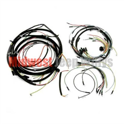 Jeep Part 925159 Complete Cloth Covered Wiring Harness Kit for 1957