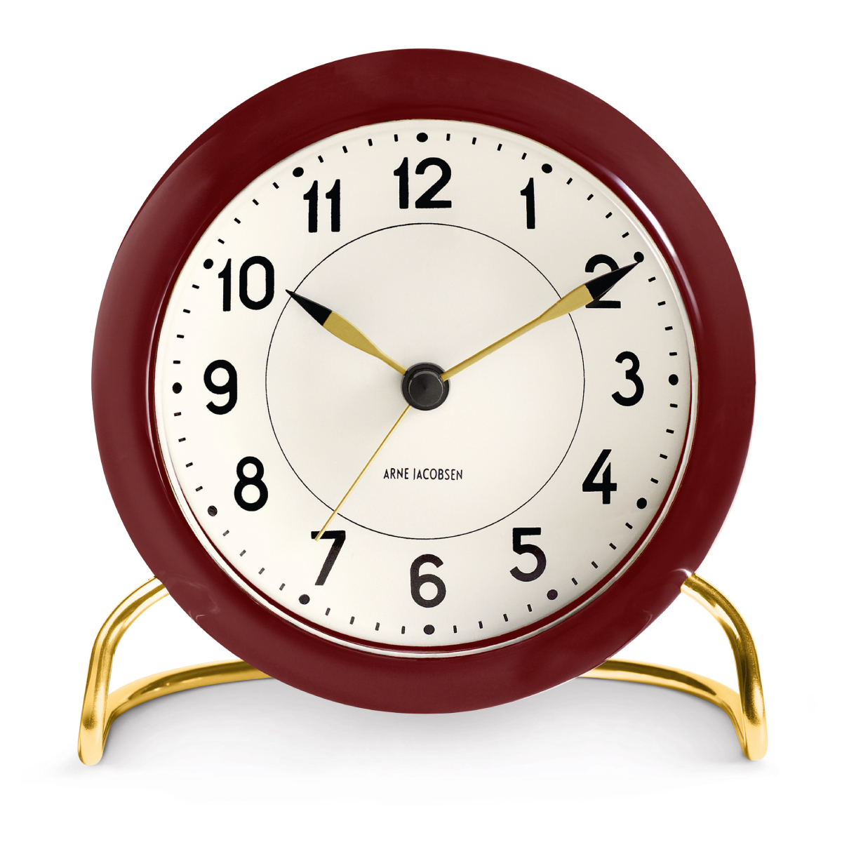 Table Clock Modern Rosendahl Arne Jacobsen Station Table Clock Modern Burgundy