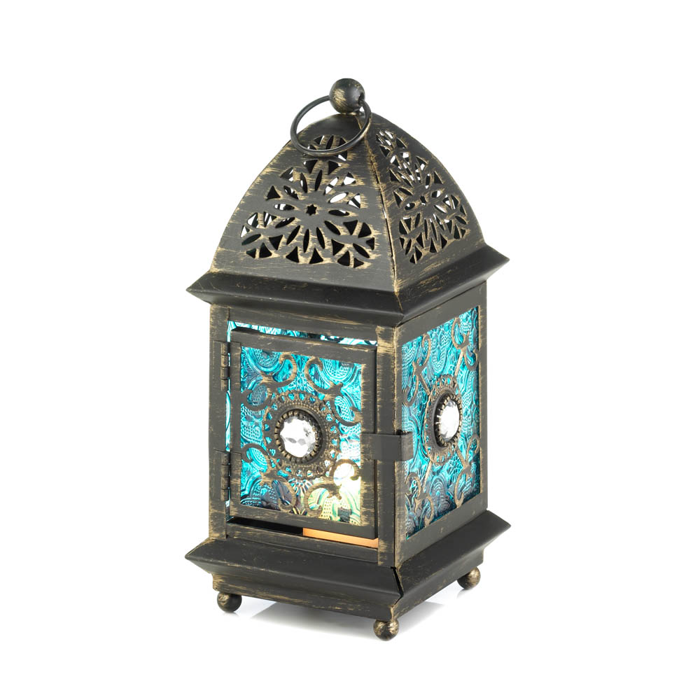 Wholesale Jewelry Cheap Jeweled Blue Glass Lantern Wholesale At Koehler Home Decor