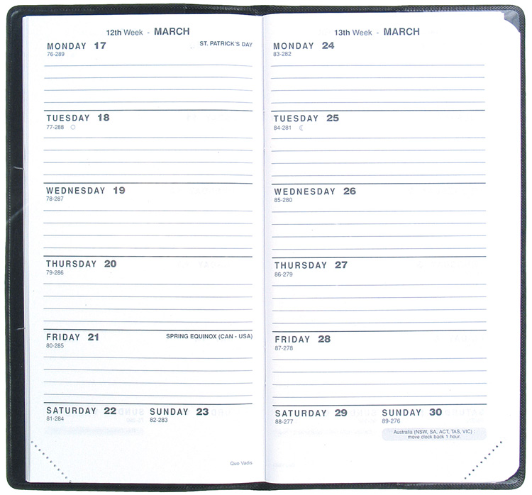 Weekly Planning Appointment Book Two weeks at a glance - weekly agenda