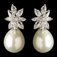 Crystal Pearl Drop Earrings Midsummer Crystal Pearl Drop ...