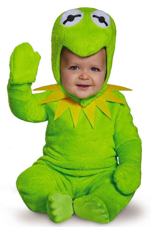 Infant Toddler Plush Kermit The Frog Costume Candy Apple