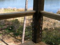Cable Railing Hardware on Wood 4x4 Posts