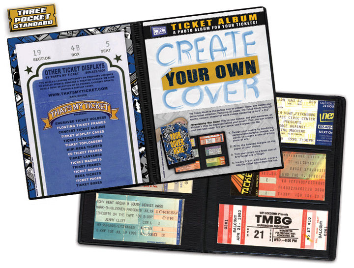 Create-Your-Own-Cover Ticket Album - A Photo Album Designed to Hold - make your own concert tickets