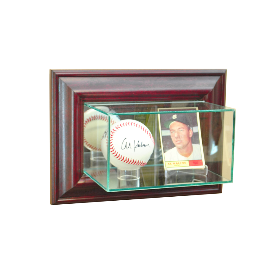 Wall Mounted Display Case Wall Mounted Card And Baseball Display Case Cherry